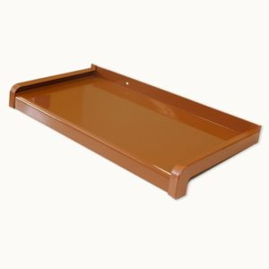 light brown aluminium window sill